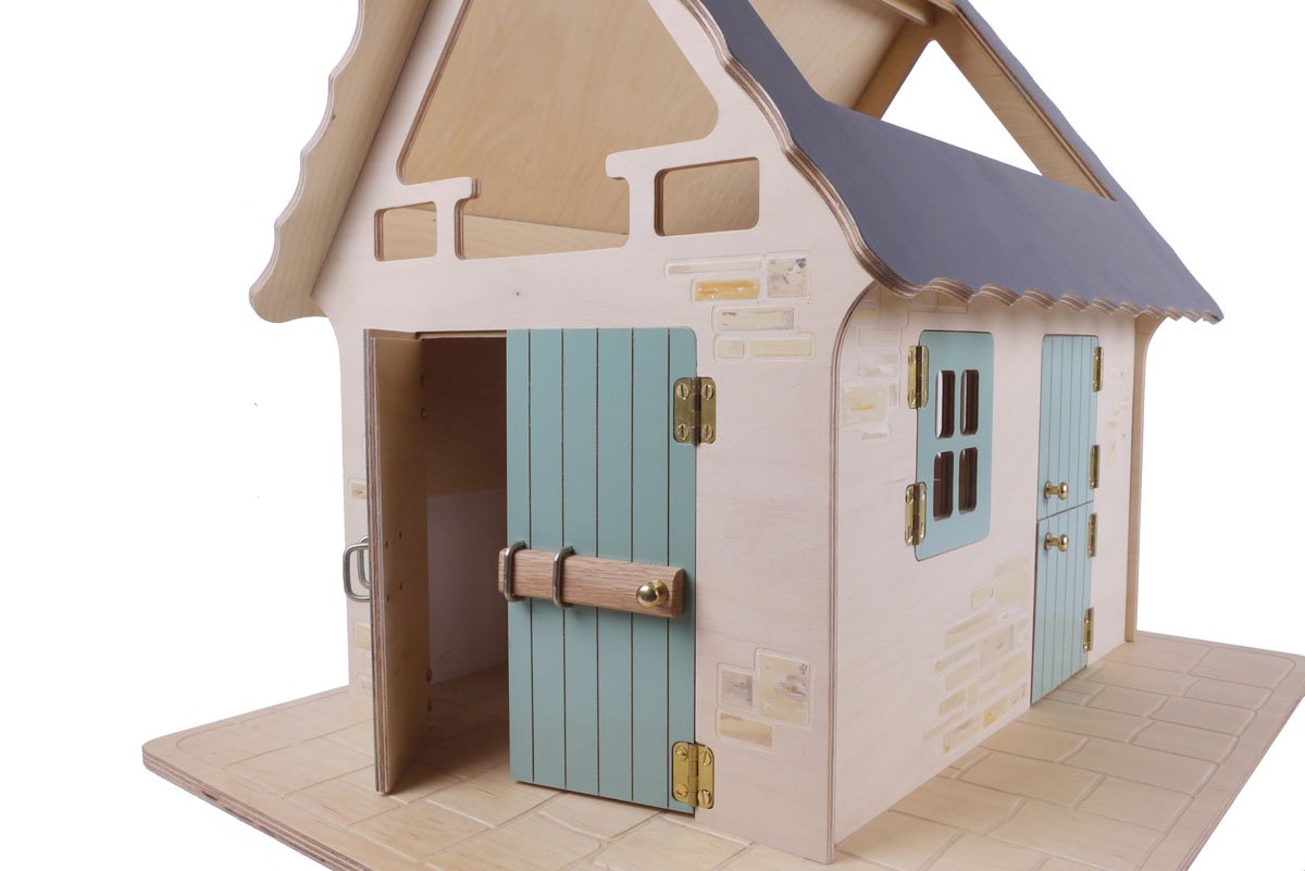 Single Barn Stable - Dove Grey / White wash / Pale green / Purbeck / Flagstone